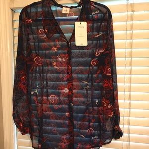NWT Cabi Lovely Blouse